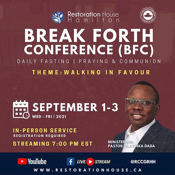 Break Forth Day 1- SEPTEMBER