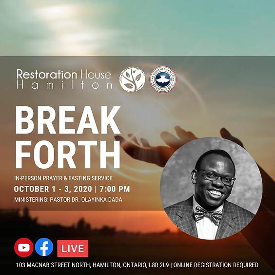 Prayer and Fasting: Break Forth