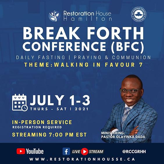 Break Forth Day 1- JULY