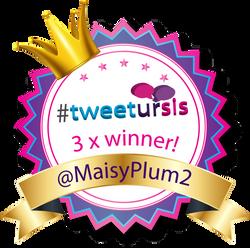 tweetursis winner badge maisyplum2 3rd win
