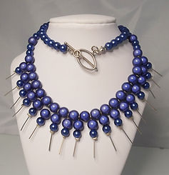 Miracle bead spiked collar necklace Made by Artisan Design UK