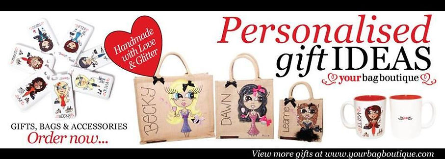 Handpainted customised Bags and bespoke gifts and accessories for all ages!!