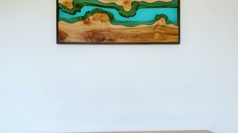 Big Leaf Maple Wall Art | River Series | Black Walnut | Wall Hanging