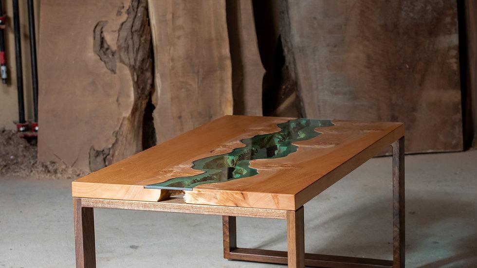 Big Leaf Maple Coffee Table | River Series | Black Walnut |