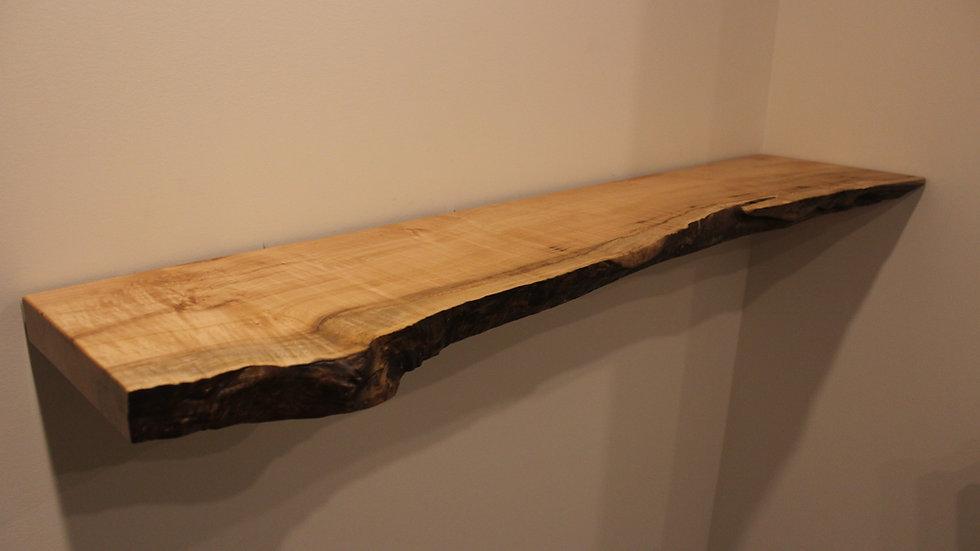 Big Leaf Maple Live Edge Floating Shelf | Hardware & Bracket Included |