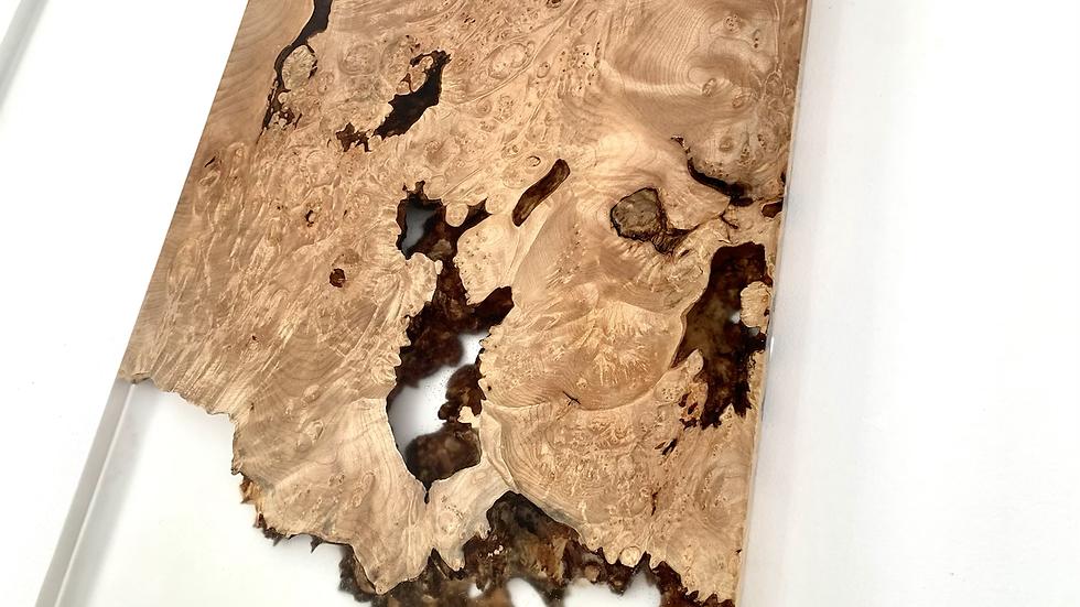 Big Leaf Maple Resin River Art | Live Edge | Epoxy Art | Wall Art | Wood |