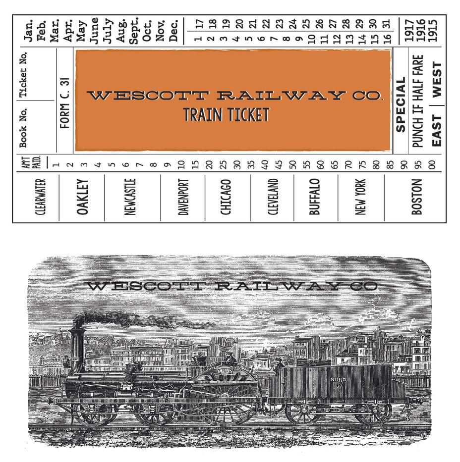 Period Train Ticket