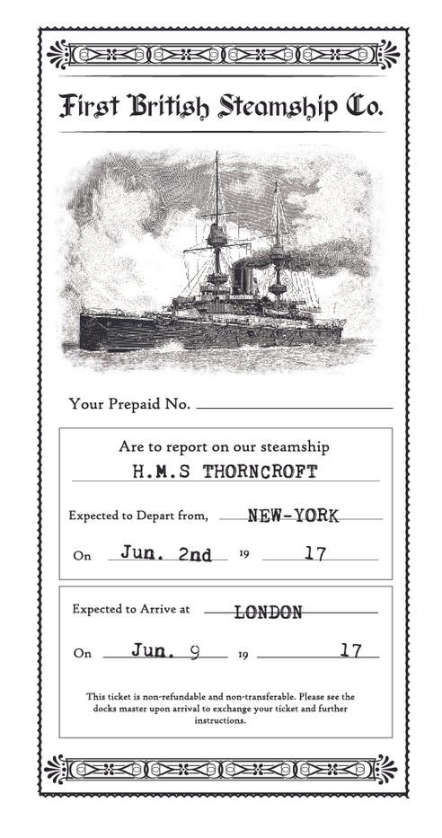 Period Steamship ticket