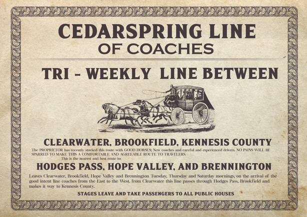 Ext Coach and Line Sign