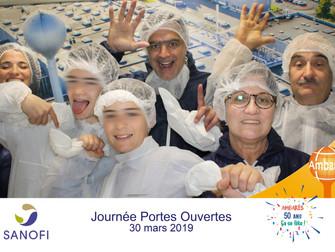 Journée des familles dans un grand laboratoire pharmaceutique