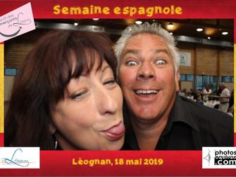 Borne photo pour la semaine espagnole à Léognan
