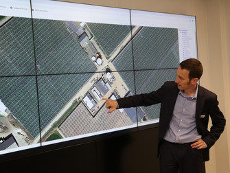 Inauguration d'un bâtiment d'une grande entreprise de BTP