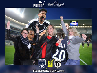 Une animation photo offerte par un sponsor du célèbre club de foot bordelais
