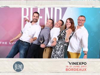 Photocall aux soirées Vinexpo au Palais de la Bourse à Bordeaux