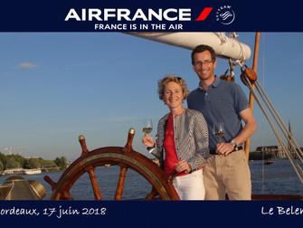 Une grande compagnie aérienne invite ses clients à bord du Belem à Bordeaux pour une incroyable croi