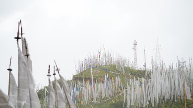ブータンの車道で最も高いチェレラ峠