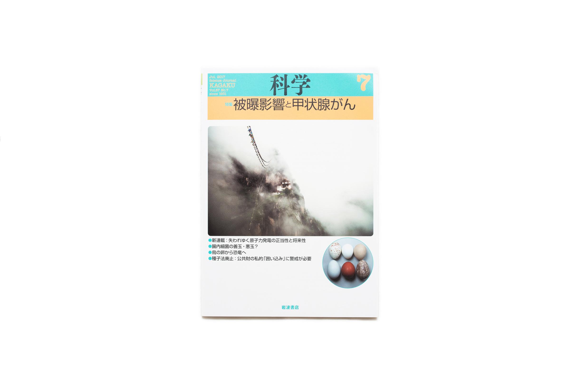 岩波書店・雑誌『科学』2017年7月号表紙