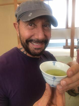 Richard enjoying Green Tea