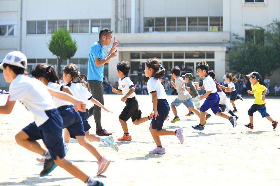 成田健全かけっこ教室を撮影