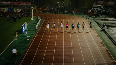 陸上競技の日本選手権を見に福岡へ
