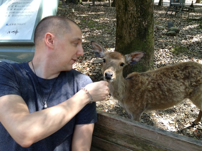 Shawn with a Sweet Deer
