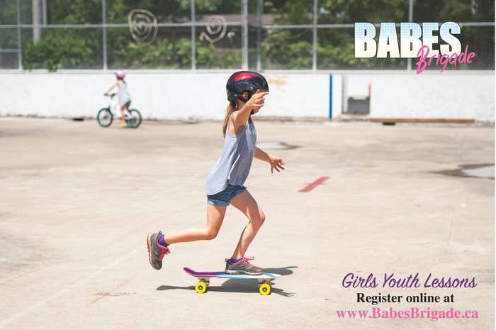 Girls Youth Lessons kick off Sunday June 18th at Ashbridges Bay skatepark 11am-12pm