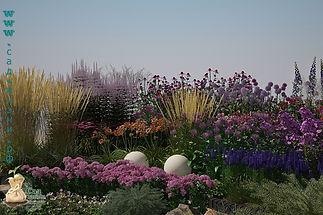 3D визуализация цветника