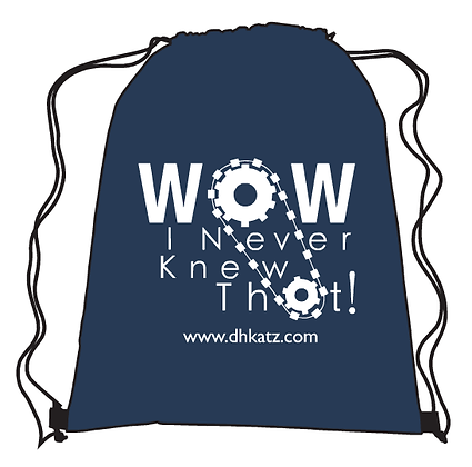 Wow, I Never Knew That! Nylon Drawstring Backpack