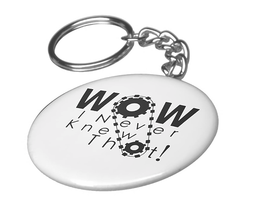 Wow, I Never Knew That! Keychain