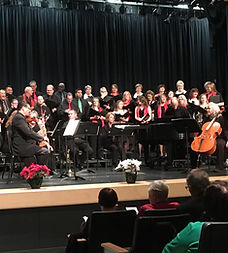 "Holiday choir performance of Antonio Vivaldi's joyful ""Gloria"" accompanied by members of the Poway Chamber Orchestra, followed by a variety of festive favorites sung in English and Hebrew"