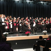 """Holiday choir performance of Antonio Vivaldi's joyful """"Gloria"""" accompanied by members of the Poway Chamber Orchestra, followed by a variety of festive favorites sung in English and Hebrew"""