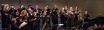 Poway Community Choir members perform in a choir concert in their hometown of Poway, California