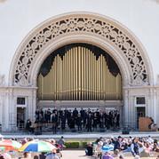 The Poway Community Choir performs at Spreckels Organ Pavilion
