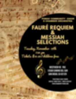 2019 Fall Concert Flyer Fauré Requiem Handel Messiah