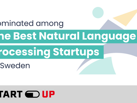 Your Speech Factory was nominated among the best Natural Language Processing startups in Sweden