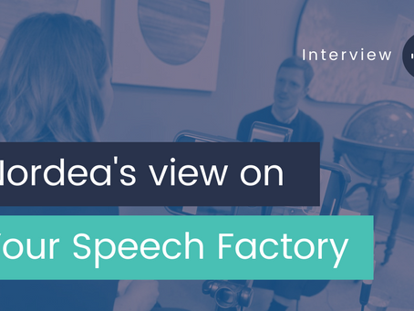 Everyone needs to train for a presentation, but a proper tool isn't in place: Nordea Interview