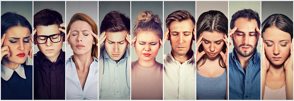 Group Stressed People With Headache Chiropractic Dr Nathan Jenner Prahran Windsor 3181 Melbourne