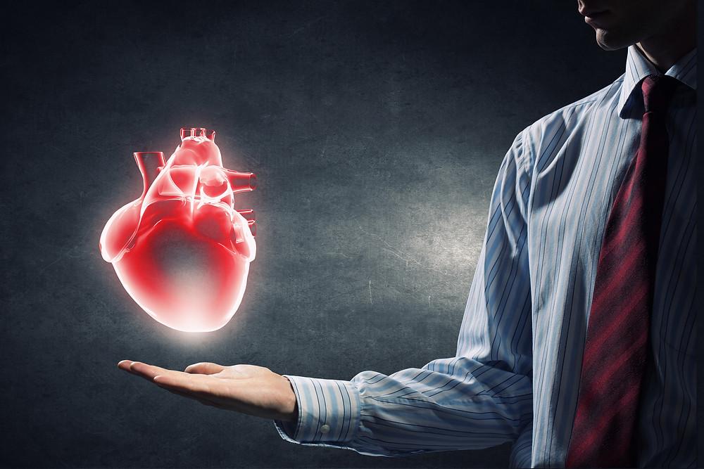 Man Holding Heart Chiropractic Prahran Windsor Melbourne Dr Nathan Jenner
