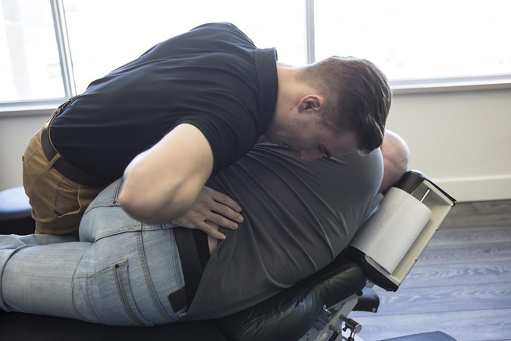 Chiropractic Adjustment Dr Nathan Jenner Chiropractor Prahran Windsor Melbourne