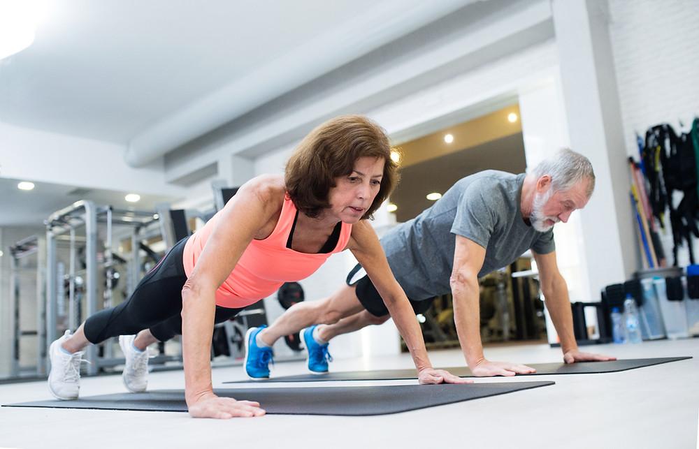 Healthy Elderly Exercising Chiropractic Dr Nathan's Chiropractic Studio Prahran | Windsor Melbourne