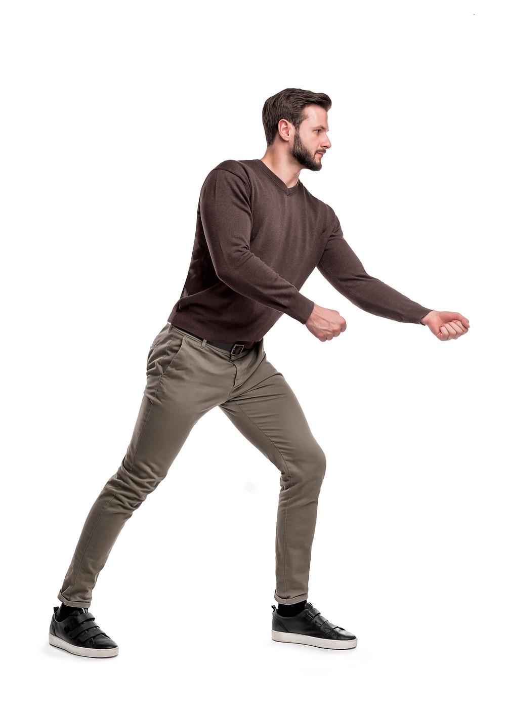 Grip Strength Man Pulling Imaginary Rope Chiropractic Melbourne Prahran Windsor 3181