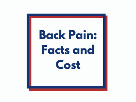Back Pain: Facts and Cost