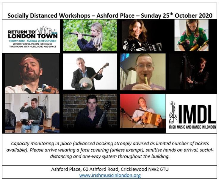Socially Distanced Workshops advert - 25