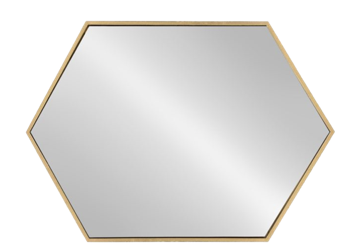 Hexagon Gold Mirror