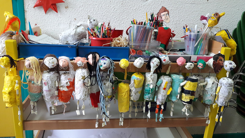 Stage de fabrication de marionnettes à La Mulatière