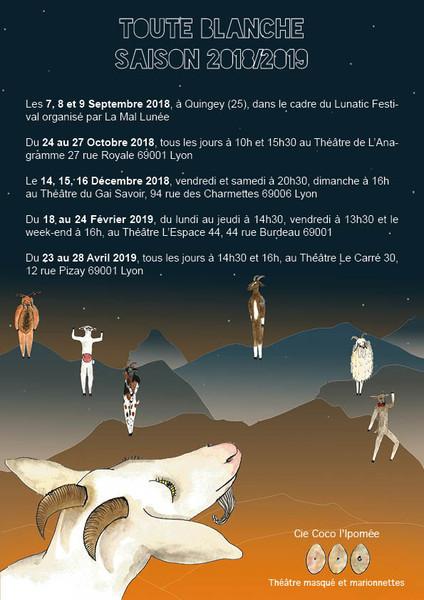 Calendrier Toute Blanche saison 2018/2019
