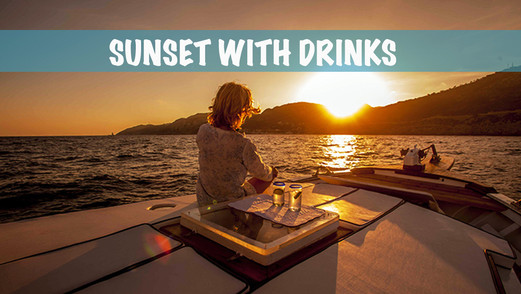 Sunset with drinks
