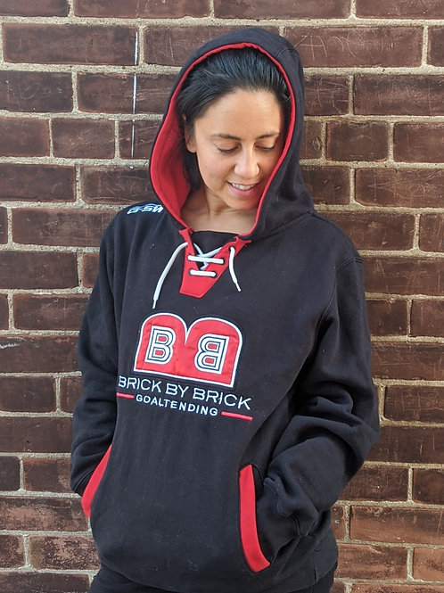 BBB Embroidered Hoodie (Black/Red)
