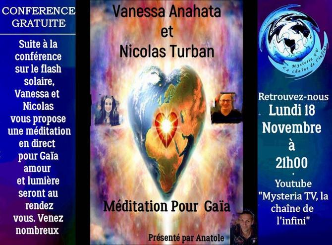 "CONFÉRENCE MYSTERIA TV : ""Méditation pour Gaïa"""