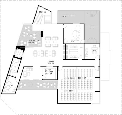 Conceptual Second Floor- Classrooms & Cafe